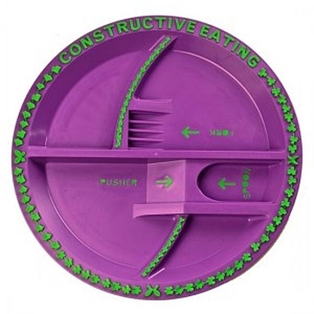 (컨스트럭티브이팅 가든접시(보라)) 접시 아동식기 이유식기
