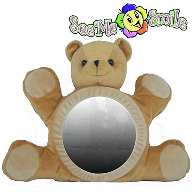 씨미스마일 카시트 인형거울(갈색곰) 유아완구 거울 아기장난감