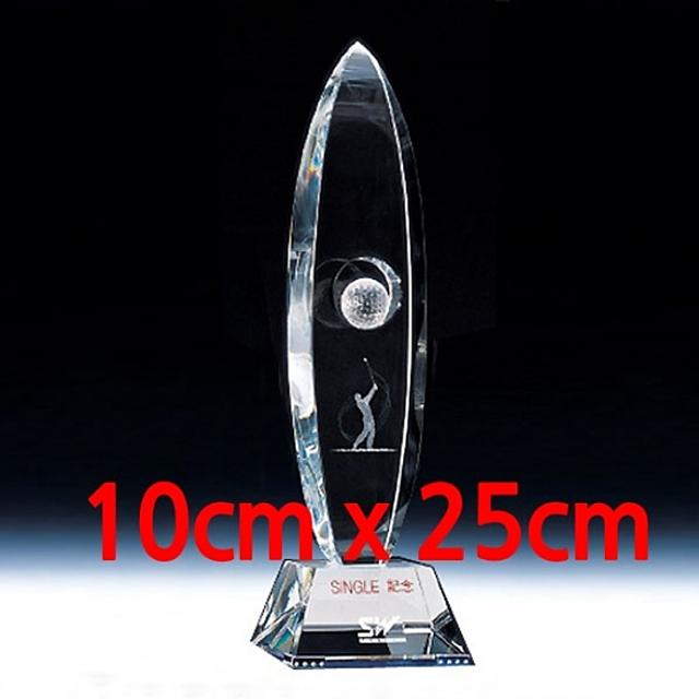 크리스탈 골프트로피(TP363) 10x25cm 골프대회 골프트로피 홀인원기념 이글패 싱글기념패 골프수상트로피